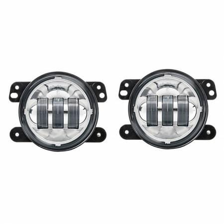LUMA LEDS - Jeep JK LED Fog Light Kit - Chrome