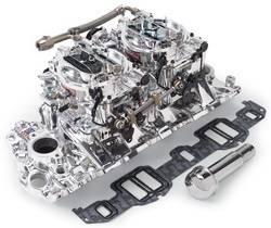 Edelbrock - Edelbrock 20694 RPM Air-Gap Dual-Quad Intake Manifold/Carburetor Kit