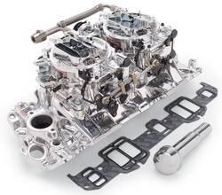 Edelbrock - Edelbrock 20674 RPM Air-Gap Dual-Quad Intake Manifold/Carburetor Kit