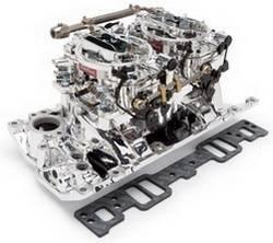 Edelbrock - Edelbrock 20264 RPM Air-Gap Dual-Quad Intake Manifold/Carburetor Kit