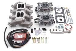 Edelbrock - Edelbrock 2068 RPM Air-Gap Dual-Quad Intake Manifold/Carburetor Kit