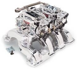 Edelbrock - Edelbrock 20764 RPM Air-Gap Dual-Quad Intake Manifold/Carburetor Kit
