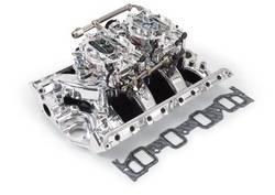 Edelbrock - Edelbrock 20364 RPM Air-Gap Dual-Quad Intake Manifold/Carburetor Kit
